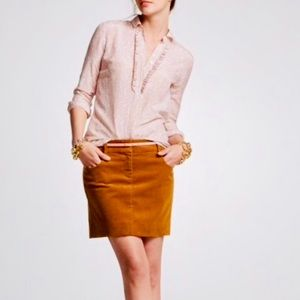J Crew Corduroy Mini Skirt Size 4 Perfect for Fall